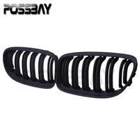 Car Accessories For BMW 3-Series E91 Touring 2008-2012 Facelift Matte Black Auto Car Kidney Hood Grill Grille Front Grill