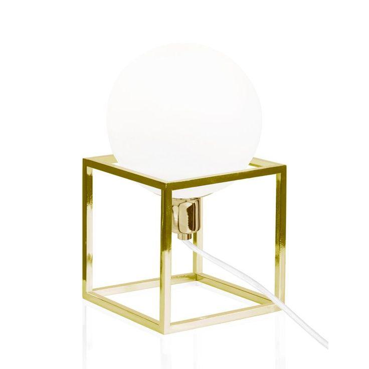 Cube Mässing Bordlampa