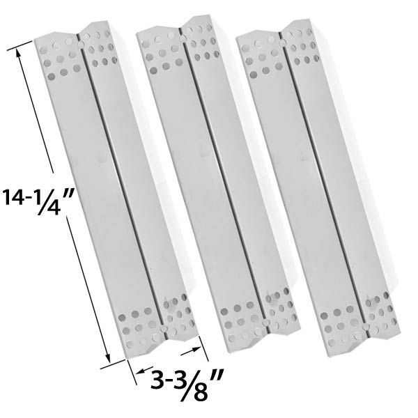 3 PACK REPLACEMENT STAINLESS STEEL HEAT SHIELD FOR DURO 780-0390, GRILL MASTER, NEXGRILL 720-0697, UBERHAUS 780-0003, TERA GEAR 780-0390 GAS GRILL MODELS Fits Compatible Duro Models : 780-0390 Read More @http://www.grillpartszone.com/shopexd.asp?id=33588&sid=34282