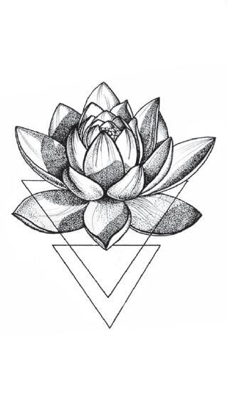 Cheap Temporary Tattoos, Buy Directly from China Suppliers:3D Triangle Lotus Tem…