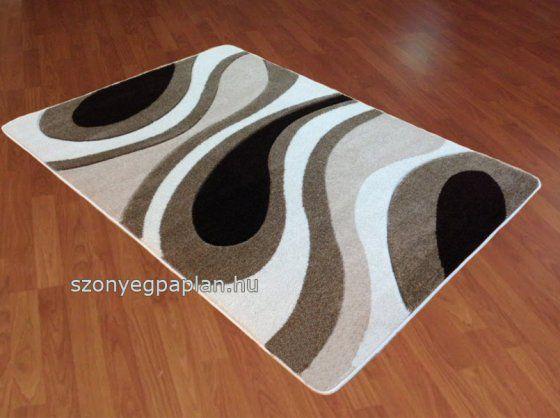 Krém barna hullámos szőnyeg 120x170 cm