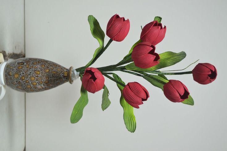 Mega Flores - Flores em EVA - TULIPA (passo a passo)