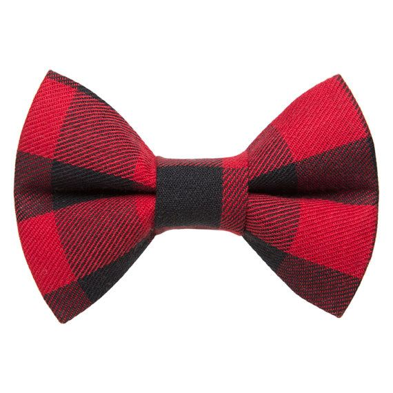 Cat Bow Tie The Wildcard Red Buffalo by sweetpicklesdesigns