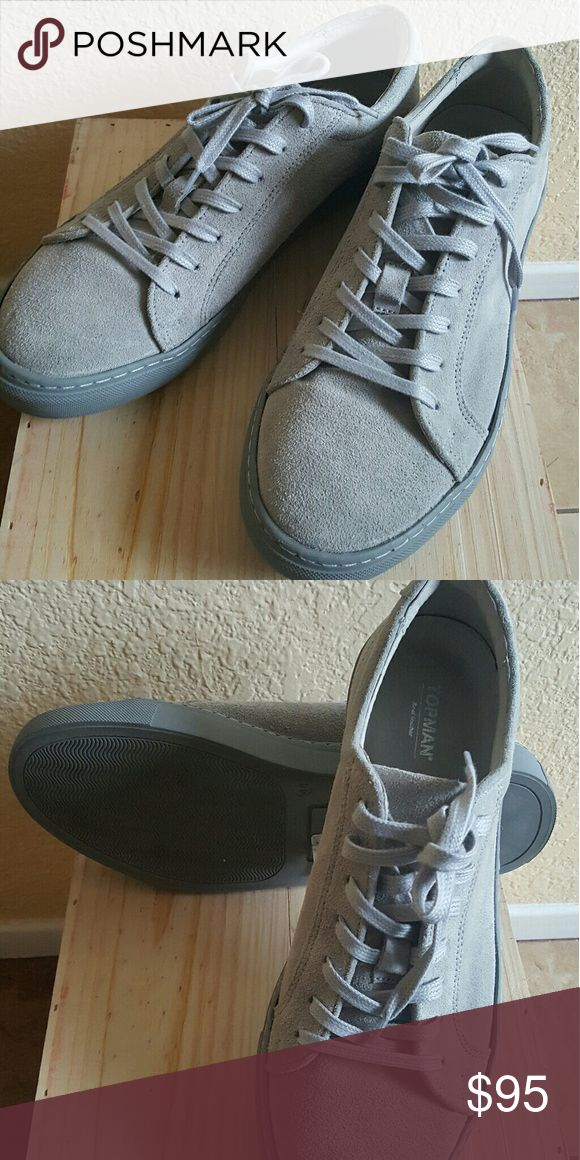 Shoes Soft Gray shoes with gray shoe laces Topman Shoes Sneakers