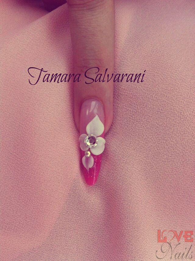 www.rdcosmetic.com Tamara Salvarani - nail artist #nailart #nailpolish #nails #pink #flower