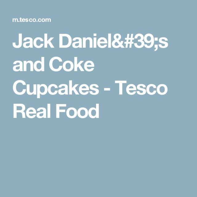 Jack daniels and coke cupcakes uk