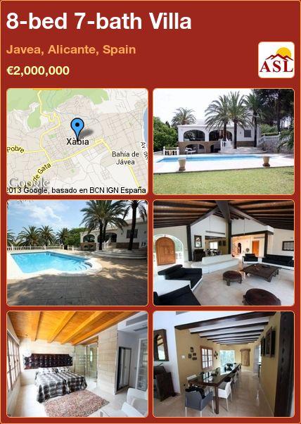 8-bed 7-bath Villa in Javea, Alicante, Spain ►€2,000,000 #PropertyForSaleInSpain