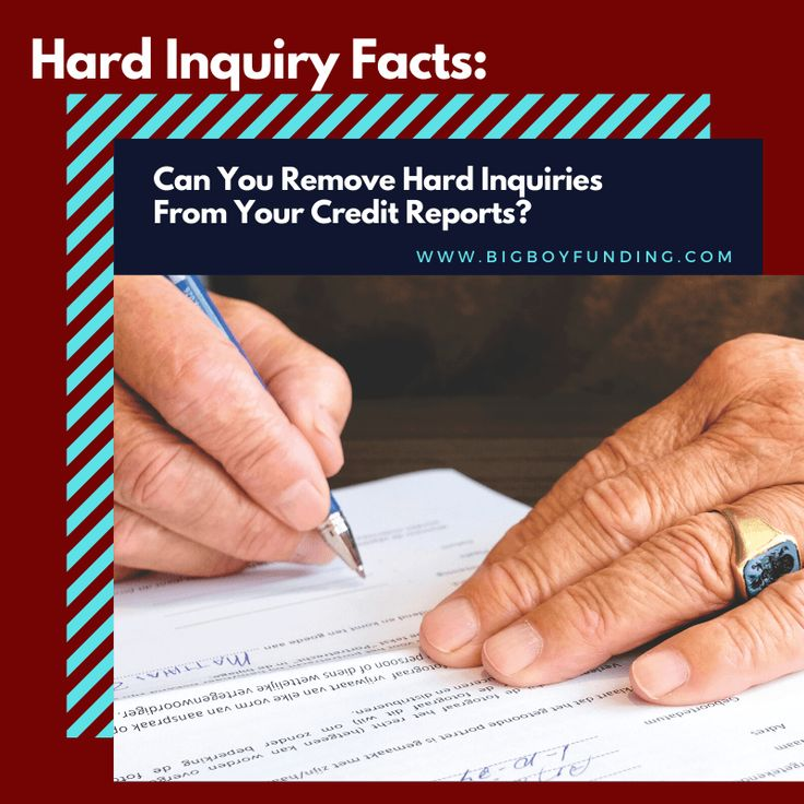 Can you remove hard inquiries from your credit reports