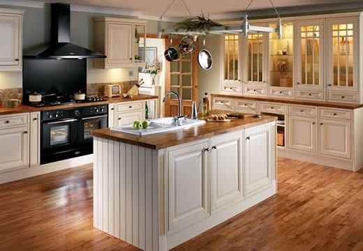 This Color Floor With The Cream Cabinets Kitchen Ideas Pinterest