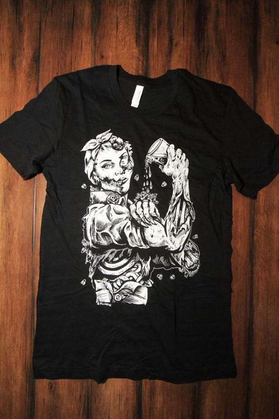 Zombie Shirt Craft Beer Shirt Rosie Riveter Funny Beer