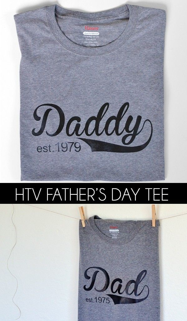 Daddy Est. 1979 Tee (easy to customize free cut file) - Dream a Little Bigger