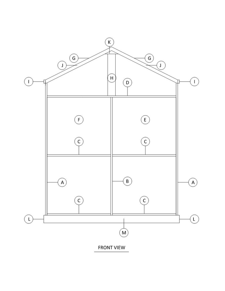 Doll house plans for american girl or 18 inch dolls 5 for American house plans free