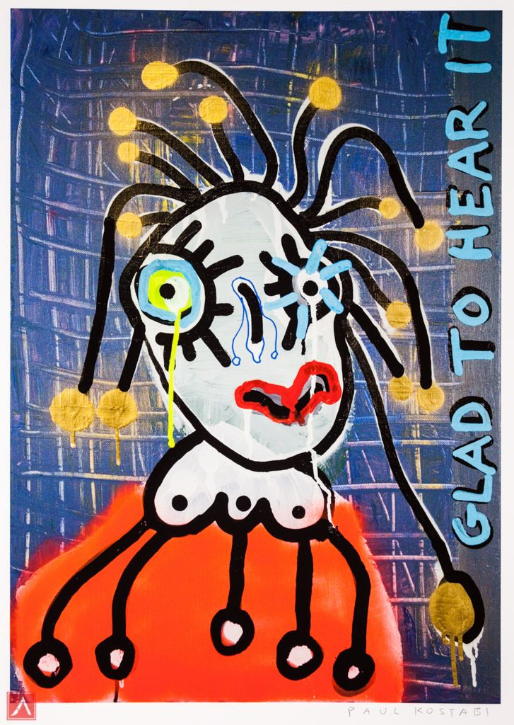 """Paul Kostabi: """"Mrs. Who"""" (2013) is a handsigned & numbered gliclée."""