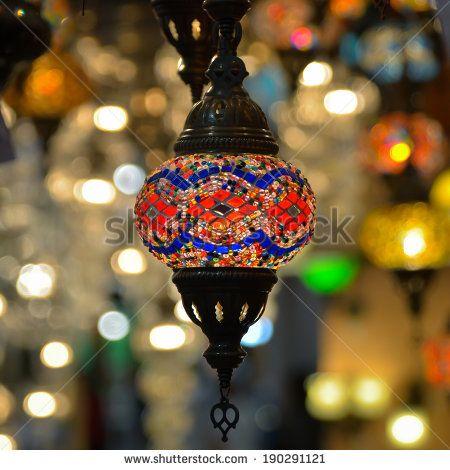 Beautiful lighting decoration - stock photo