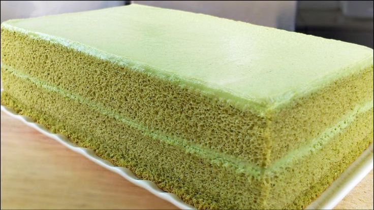 green matcha tea cake and other fluffy sponge cakes BLOG