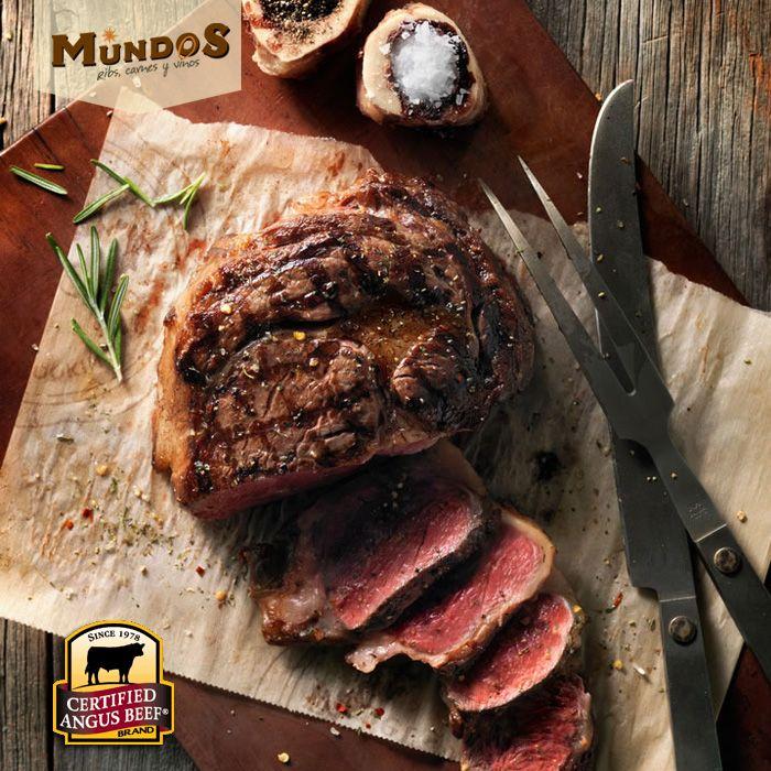 ¿Sabías que solo 1 de cada 4 animales Angus cumple con elevados estándares para ser #CertifiedAngusBeef ? Por eso, la mejor carne del mundo la encuentras en #MundosRestaurante. Visítanos en Llanogrande, al frente del Complex. www.mundos.com.co