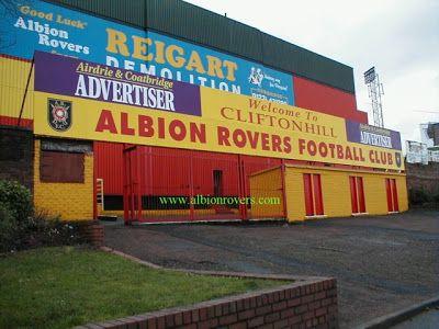 Cliftonhill, Coatbridge, Scotland. Home of Albion Rovers.