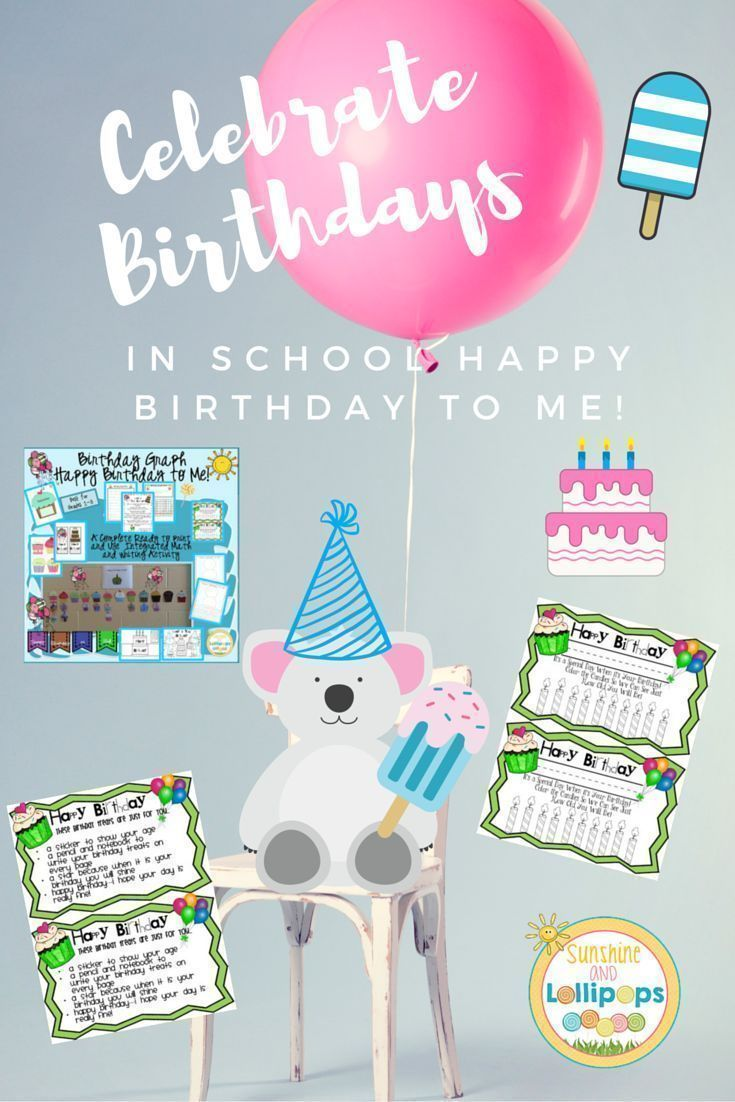 Celebrating Birthdays in School is every little child's dream. The excitement is too much to even imagine and the self esteem soars.  This resource will make it easy peasy to celebrate birthdays in your classroom!! Happy Birthday to me!!! Look for a post in the next couple of days on How to Celebrate birthdays in school on http://joyssunshineandlollipops.blogspot.com