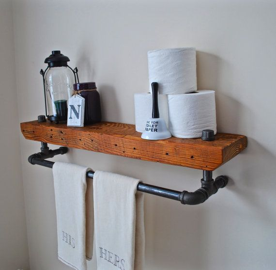 Diy Floating Shelves For Bathroom: Wow Your Visitors As This Handmade Vintage Industrial