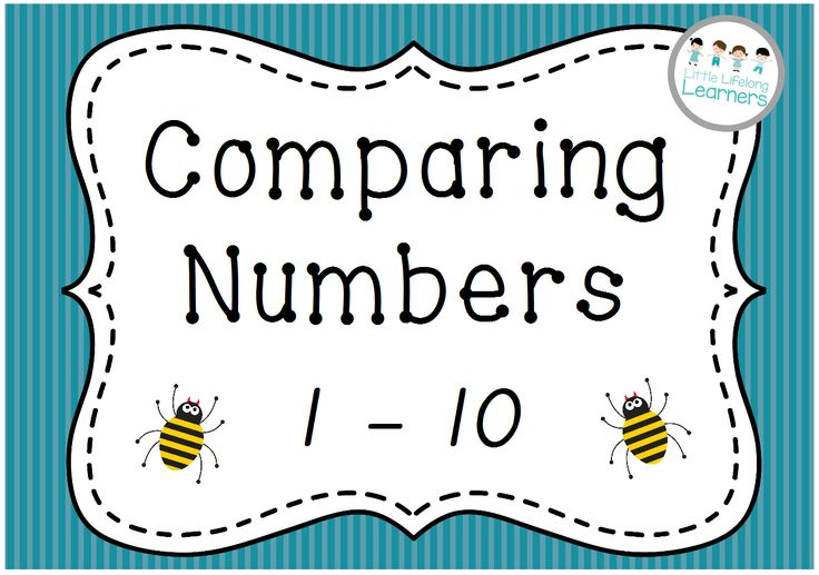 Comparing Numbers 0-10 is a set of bug cards that can be used in a variety of ways. Each number is represented in three different ways using pictures, numerals and written form.