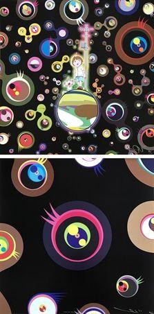 Jellyfish Eyes (+ Jellyfish Eyes - Black 1 2 works) by Takashi Murakami
