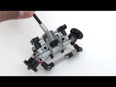 Lego Technic Mini Front Wheel Drive With Steering Youtube Let Go
