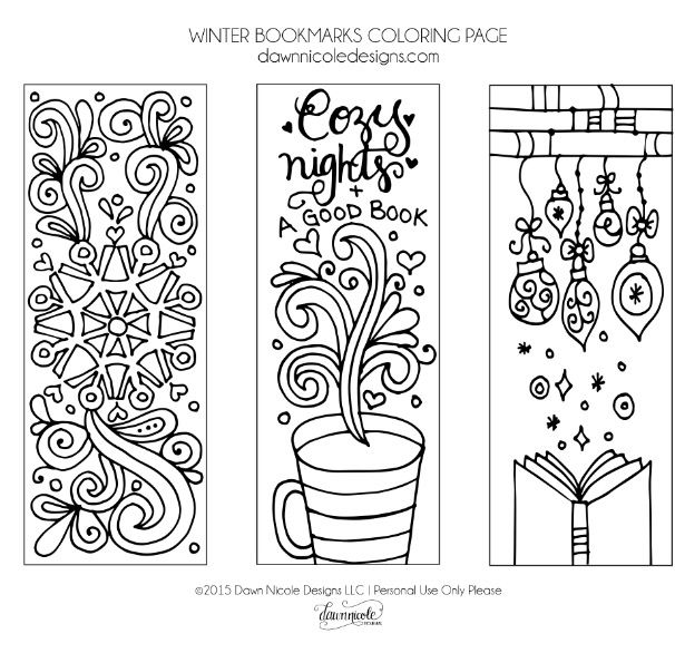 It is a photo of Clean Free Printable Bookmarks to Color Pdf