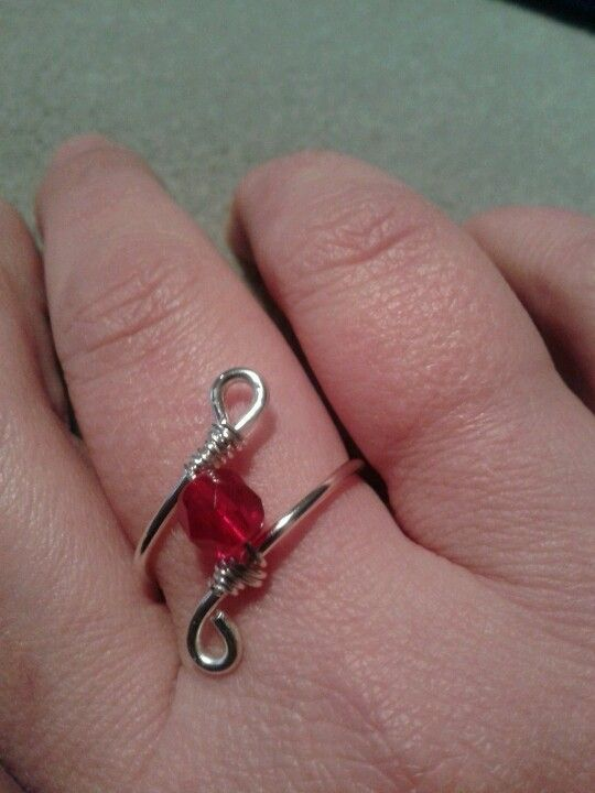 Silver plated wire wrapped ring