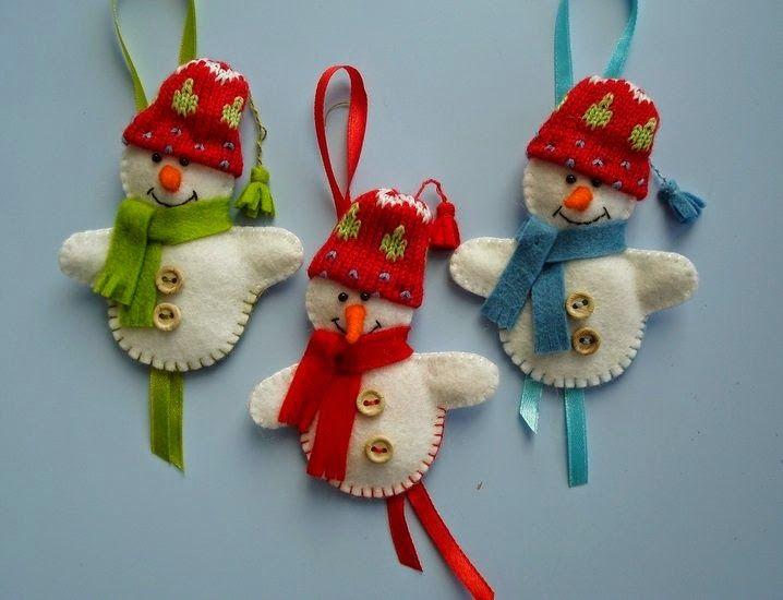 Vrolijke sneeuwpopjes - Atelier Constance