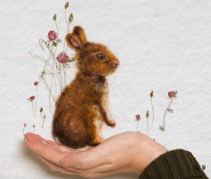 Bunny rabbit whimsical art . Www.facebook.com/ewesir