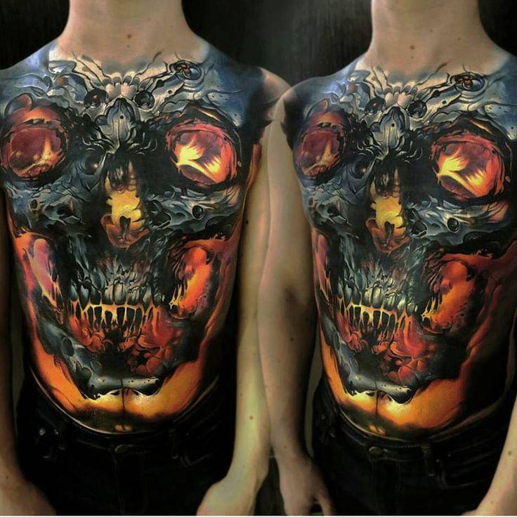 By @dmitriygorbunov_ #tattoo #tattoos #tat #ink #inked #darkart #tattooartist #color #skull #tattooed #tattoist #evilart #newtattoo #art #metallic #skulls #chesttattoo #glow #tatted #tatouage #bodyart #beautiful #tatuaggio #tatuagem #tatuaje #amazingink #tattedup #inkedup