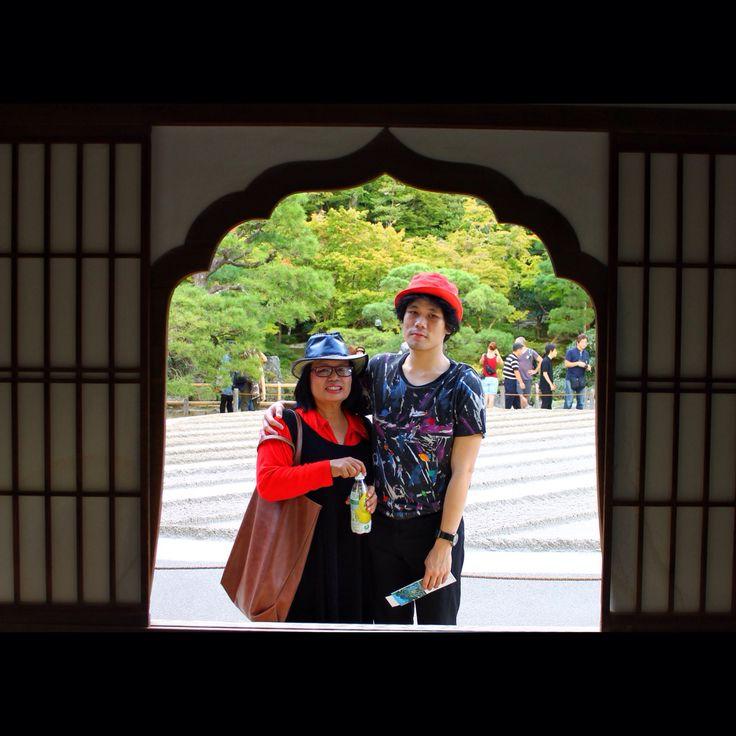 With Mom, Ginkakuji Temple of #Kyoto Japan :-)
