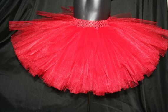 Red Tutu Skirt, Christmas Tutu, Christmas tutu skirt, Red tutu, Fluffy red tutu 8
