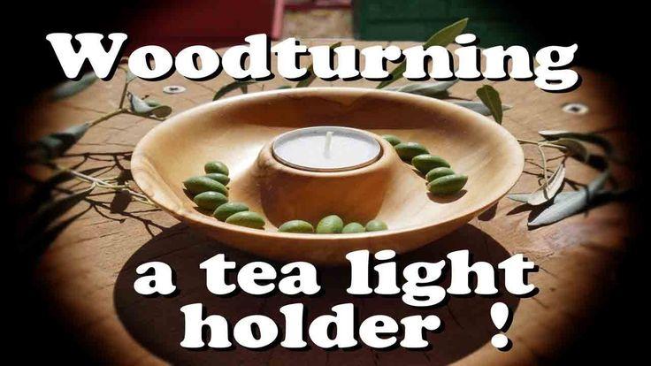 Woodturning a tea light holder / Ξυλότορνος - κατασκευή ενός ρεσο