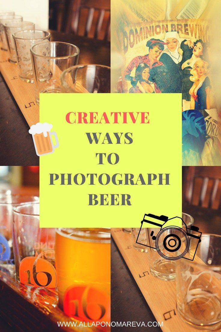 Creative ways to photograph beer