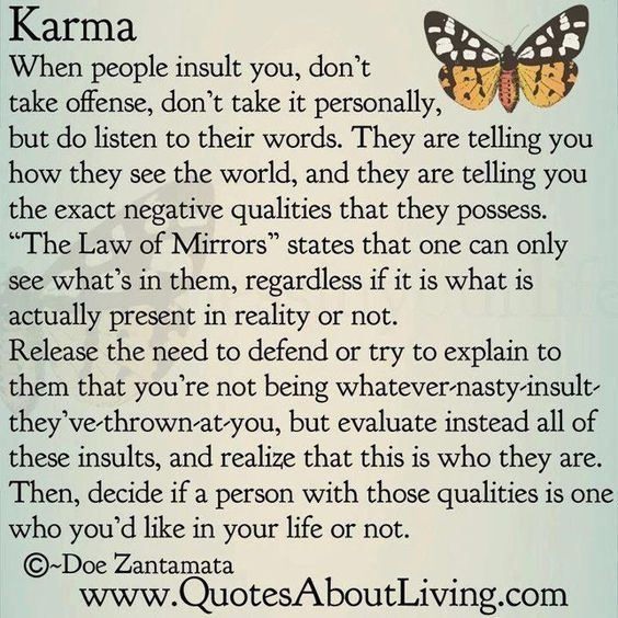 karma, quotes, sayings, long, life, wisdom, mirror | Inspirational ...