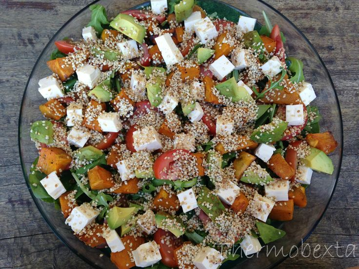 Sesame Roast Pumpkin Salad