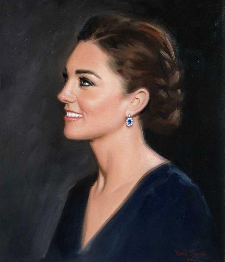 Portrait of the Catherine, Duchess of Cambridge by Hazel Morgan | NEWMYROYALS & HOLLYWOOD FASHION