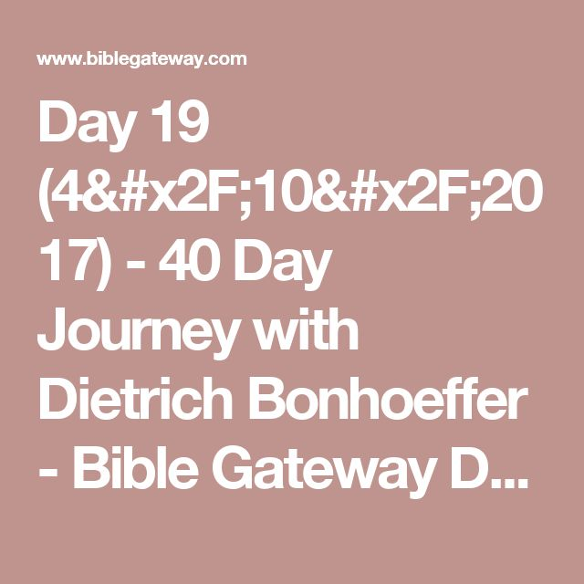 40 day journey with dietrich bonhoeffer pdf