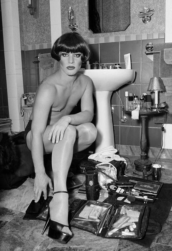 Told you drag queens were good at makeup.   Diane Arbus, Trix Rosen.