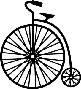 Silhouette Online Store - View Design #15120: vintage bicycle ... - ClipArt Best - ClipArt Best