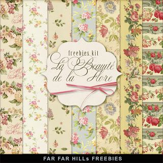 New Freebies Kit of Papers - La Beauté De La Flore (Far Far Hill)