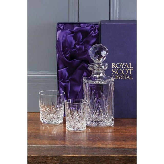 Royal Scot Crystal Highland Crystal Whisky Decanter Set