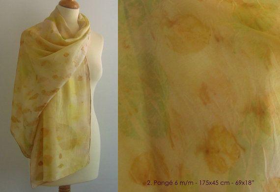 Chal de seda ecoprintado por gertectos en Etsy