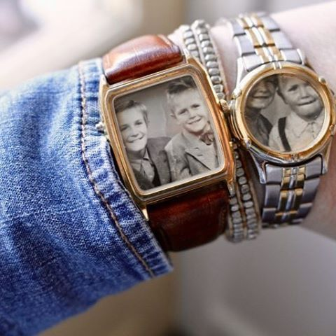 Vintage watches photo frames - klockor blir små fotoramar Sanna Hederstedt @sanna_hederstedt