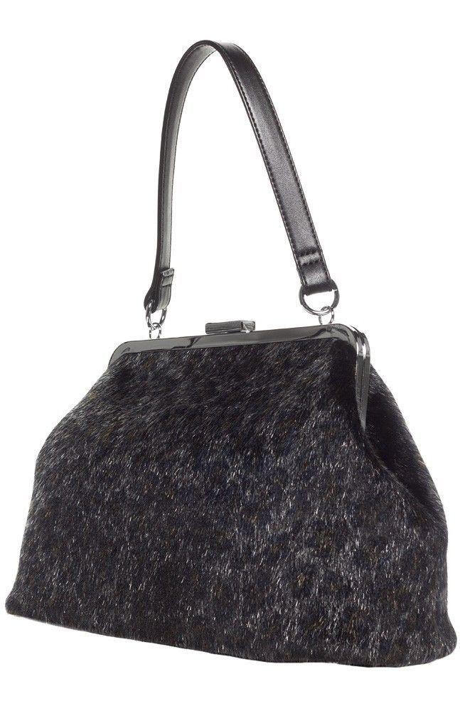 SOURPUSS  BETSY LEOPARD PURSE BLACK PINUP ROCKABILLY RETRO VINTAGE PUNK  #Sourpuss #Handbags
