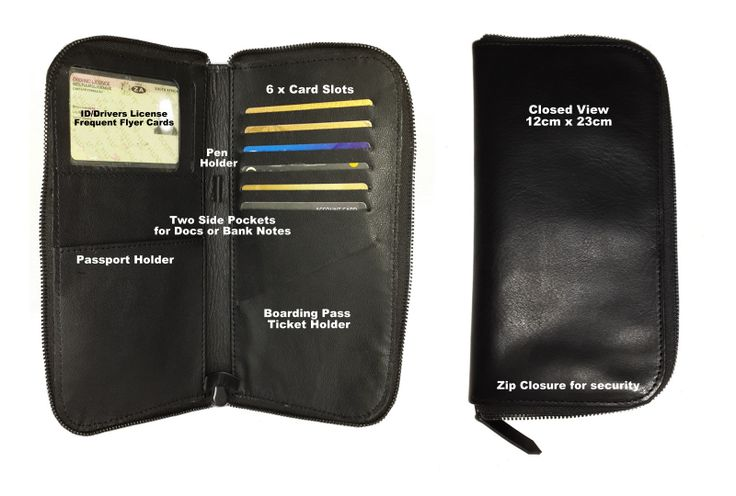 Travelers Choice. Keeps all your important travel docs and cash safe in one place. Available in Ostrich and other exotic skins.
