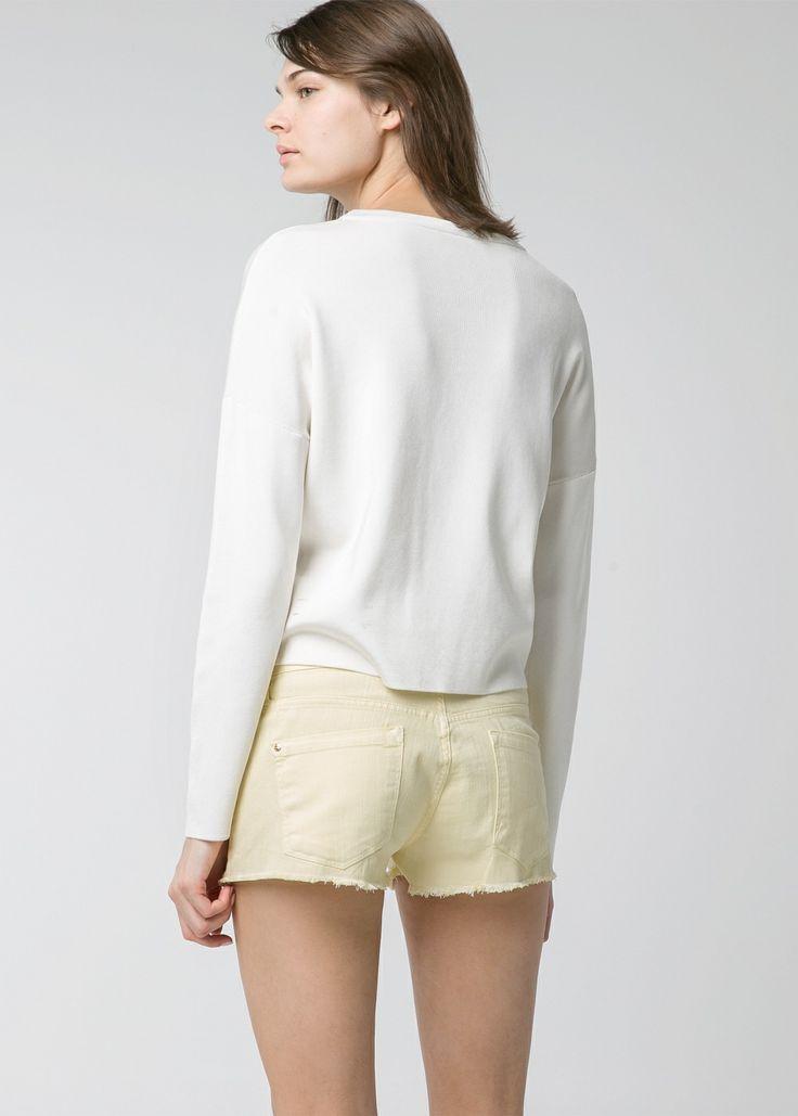 Gele denim shorts