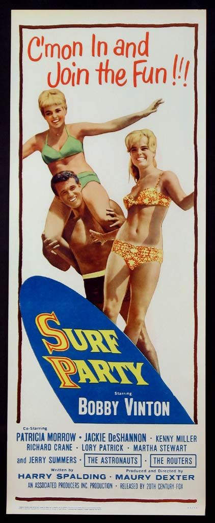 SURF PARTY Movie Poster (1964)