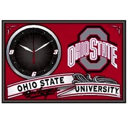 Ohio State Buckeyes framed clock